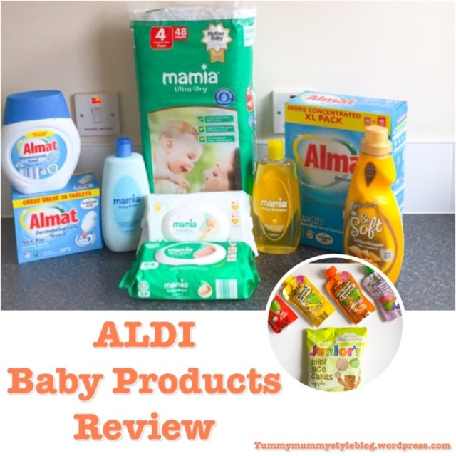 ALDI Baby Products Review yummymummystyleblog.wordpress.com ALDI washing powder ALDI nappies ALDI babyfood
