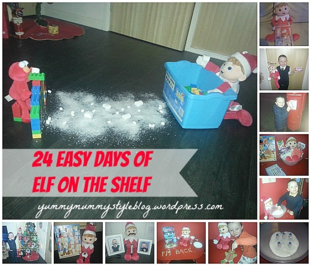 24 Days Of Elf On The Shelf yummymummystyleblog.wordpress.com easy elf on the shelf, elf on the shelf ideas, elf on the shelf printables, advent calendar, christmas, quick elf on the shelf ideas